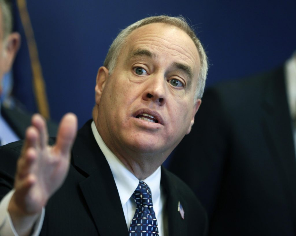 New York State Comptroller Thomas DiNapoli talks about findings of a statewide audit of nursing homes during a news conference on Monday, Feb. 22, 2016, in Albany, N.Y. State auditors say the New York Health Department has been slow to penalize nursing homes for violations, often choosing not to levy fines or taking several years to actually impose them. (AP Photo/Mike Groll)